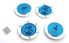 1/10 Scale RC Car On Road Wheel 12mm Drive Hex Hub Brake Disc Disk Alloy Blue x4