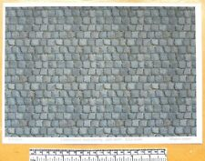 "Dolls house 1/12th scale ""Cobblestone road paving - part worn"" paper - A4 sheet"