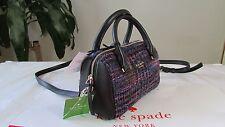NWT Kate Spade Emerson Fabric Lane Satchel Handbag Crossbody Burgdymulti