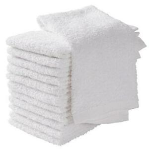 """24 Kitchen Bar Mop Towels Cleaning Towels 16x19"""" Cotton White Kitchen Rags"""