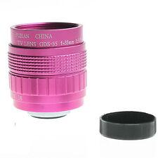 FUJIAN CCTV 35mm  c mount cctv f1.4 lens for micro 4/3 m4/3 nex GX1 OM-D1 Rose