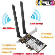 1300Mbps PCI-E Desktop Wireless Card Dual-band WiFi BT4.1 For Qualcomm QCNFA344