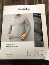 Goodfellow & Co Mens Premium Thermal Shirt Medium Tall Gray
