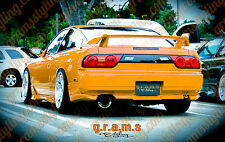 Nissan S13 180SX Silvia Type X Style Rear Bumper Spats for Performance Racing v6