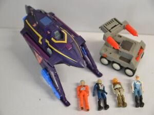 Coleco 1987  Starcom - Fahrzeuge mit 4 Minifiguren Figuren