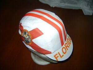 FLORIDA CYCLING CAP FL HAT CAP POLYESTER SUBLIMATED UV RAY PISTA FIXED MIAMI FL