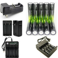 USA 18650 Rechargeable Battery 3.7V Li-ion Battery For LED Torch Flashlight