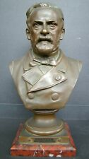 19th Century Bronze Bust of Louis Pasteur Signed  by ADRIEN-ETIENNE GAUDEZ RARE
