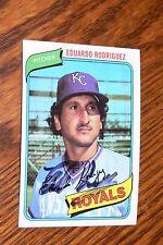 EDUARDO RODRIGUEZ SIGNED AUTOGRAPHED 1980 TOPPS CARD # 273 KANSAS CITY ROYALS