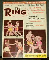 The Ring Boxing Magazine 1962 September 25th Anniversary Joe Louis