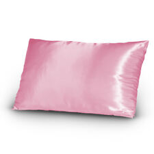 Pair of Satin Pillowcases Queen/Standard Size Pink New