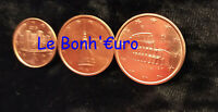 Monnaie 1,2,5 centimes cent cts euro Italie 2016, neuves du rouleau, UNC