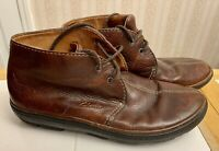 Vintage Men's Clarks Beeswax Brown Leather Boots Size 11.5