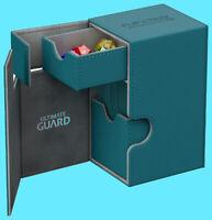 ULTIMATE GUARD FLIP n TRAY PETROL 80+ XENOSKIN DECK CASE Card Box MTG CCG Game