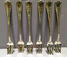 """6 COCKTAIL FORKS 5 3/8""""  Hepplewhite Engraved by Reed & Barton Sterling Silver"""