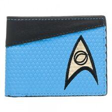 Blue Star Trek Uniform-Style Bifold Wallet Mens - Spock Science TOS Medical