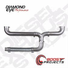 "DIAMOND EYE 5"" ALUMINIZED UNIVERSAL DIESEL DUAL EXHAUST STACK KIT 150100"