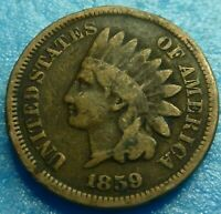 1859 Indian Head Cent    Better Grade  #Q59-1