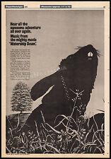 WATERSHIP DOWN__Original 1978 Trade AD soundtrack promo / poster__Art Garfunkel