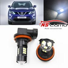 Canbus H11 3030 21SMD LED DRL Daytime Running Fog Light Bulbs For Nissan Qashqai