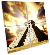 Chichen Itza Pyramid Mexico Picture MULTI CANVAS WALL ART Square