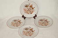 Lot of 4 - Bramble Porcelain China Salad Plates - Fanci Florals - Made in Japan