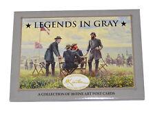 American Civil War Official Mort Kunstler Legends In Gray 20 x  Postcards  Set