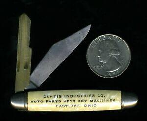 IMPERIAL POCKET KNIFE W/ UNCUT GM BLANK KEY BLADE CURTIS INDUSTRIES EASTLAKE, OH
