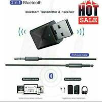 USB Bluetooth 5.0 Transmitter Wireless Audio Stereo Adapter Hot Dongle I8Y6