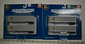 Lot 9-259 * HO Scale Walthers Scenemaster 2 x 949-2213 45' Stoughton Trlrs UPS