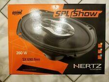New listing Hertz Spl Show Sx 690 Neo 260 Watt Three Way Coaxial Woofer Speakers