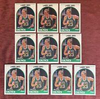 Lot of (10) 1989-90 NBA Hoops LARRY BIRD Base #150 Boston Celtics HOF🔥