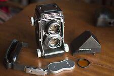 Mamiya C2 & 105 f3.5 Sekor Lens, Porroflex, Grip, Lens Cap & Filter - Mamiyaflex