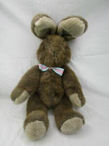 "Applause Brown Rabbit Bancroft Plush Bunny 17"" 1985 Stuffed Animal Toy"
