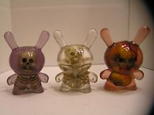 "Custom Set of 3 Resin Skull 3"" Dunny 2017 kidrobot wilkowski gee kozik freeny 8"""