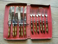 Solingen Flatware Tableware Knives Forks Utensils Set Vintage Germany Geschützt