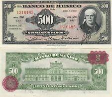 Mexico: $ 500 Pesos Morelos Jan 19, 1953 El Banco de Mexico UNC.