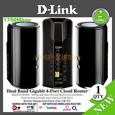 D-Link Ac1750 Dual Band Gigabit 4-Port Cloud Router with AC Smart BEAM NEW