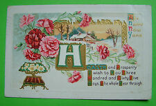 New Year Posted Collectable Greeting Postcards