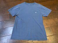 Southern Tide Pocket Casual Small Fish Navy Blue Crew Crewneck T Shirt - Medium