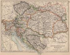 MONARCHIA AUSTRO-UNGARICA. Dalmazia Slavonia siebenburgen & C. JOHNSTON Mappa 1895