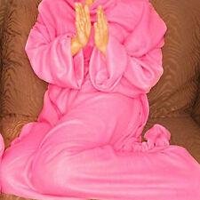 NEW Cuddle Blanket Throw Snuggle with Sleeves Snuggie Fleece Print 4798