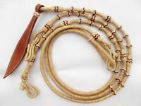 New Hand Braided Natural Rawhide Show Romel Romal Reins Horsetack RED/BLK RRN118
