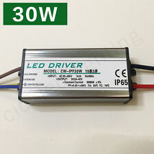 NEW 30W Led Driver Transformer Power Supply Waterproof 110V~240V TO 24V~42V