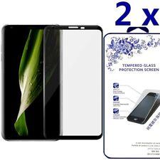 2-Pack For LG V30 3D Full Cover Tempered Glass Screen Protector -Black