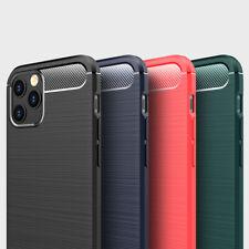 Coque Antichoc Fibre Carbone iPhone 12 Mini 12 Pro Max 7/8/Plus/XS/XR/11 SE 2020