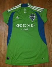 2008 Womens L Seattle Sounders FC XBOX 360 Soccer Jersey MLS Rave Green Adidas