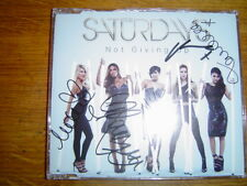 THE SATURDAYS - NOT GIVING UP 4 TRACK UK CD SINGLE SIGNED -