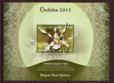 PAPUA NEW GUINEA 2013 ORCHIDS MINIATURE SHEET UNMOUNTED MINT, MNH