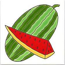 WATERMELON WALL PLAQUE, TILE, TRIVET ~ DIRECTLY FROM BESHEER ART TILE